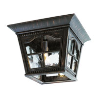 Trans Globe Lighting New American 3 Light Outdoor Flush Mount in Antique Rust 5427-AR