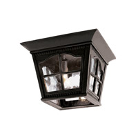 Trans Globe Chesapeake 3 Light Flush Mount in Black 5427-BK