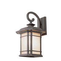 Signature 1 Light 13 inch Rust Outdoor Wall Lantern