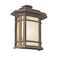 Corner Window 1 Light 12 inch Rust Outdoor Pocket Lantern