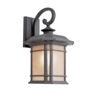 Corner Window 1 Light 16 inch Black Outdoor Wall Lantern