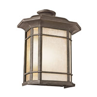 Corner Window 2 Light 15 inch Rust Outdoor Pocket Lantern