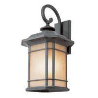 Trans Globe Corner Window 3 Light Outdoor Wall Lantern in Black 5822-BK
