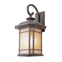 Trans Globe Signature 3 Light Outdoor Wall Lantern in Rust 5822-RT
