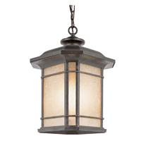 Corner Window 3 Light 11 inch Rust Outdoor Pendant