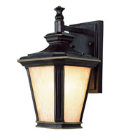 Trans Globe Lighting New American 1 Light Outdoor Wall Lantern in Brown W/Gold 5840-BGO