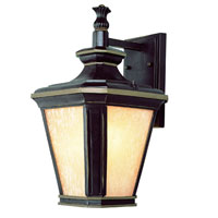 Trans Globe Lighting New American 1 Light Outdoor Wall Lantern in Brown W/Gold 5841-BGO