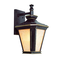 Trans Globe Hampton 3 Light Outdoor Wall Lantern in Brown with Gold 5842-BGO