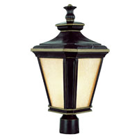Trans Globe Lighting New American 1 Light Post Lantern in Brown W/Gold 5843-BGO