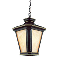 Trans Globe Lighting New American 1 Light Pole Lantern in Brown W/Gold 5845-BGO
