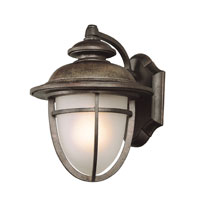 Trans Globe Lighting Coastal 1 Light Outdoor Wall Lantern in Dark Rust 5851-DR