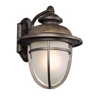 Trans Globe Lighting Coastal 1 Light Post Lantern in Dark Rust 5852-DR
