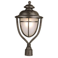 Trans Globe Lighting Coastal 1 Light Pole Lantern in Dark Rust 5853-DR