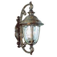 Trans Globe Lighting Villa 3 Light Outdoor Wall Lantern in Burnished Rust 5902-BRT
