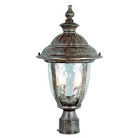 Trans Globe Lighting Villa 2 Light Post Lantern in Burnished Rust 5903-BRT