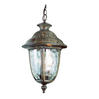 Trans Globe Lighting Villa 2 Light Outdoor Hanging Lantern in Burnished Rust 5904-BRT