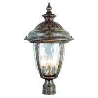 Trans Globe Lighting Villa 3 Light Outdoor Hanging Lantern in Burnished Rust 5905-BRT
