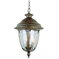 Trans Globe Lighting Villa 3 Light Outdoor Wall Lantern in Burnished Rust 5906-BRT