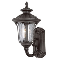 Rustic Contemporary 1 Light 15 inch Black Outdoor Wall Lantern