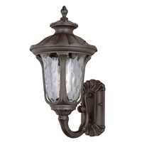 Rustic Contemporary 1 Light 19 inch Rust Outdoor Wall Lantern
