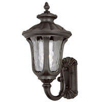Rustic Contemporary 1 Light 23 inch Rust Outdoor Wall Lantern