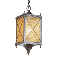 Trans Globe Lighting Estate 1 Light Outdoor Hanging Lantern in Antique Rust 5924-AR photo thumbnail