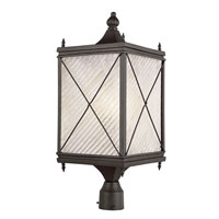 Trans Globe Lighting Estate 1 Light Post Lantern in Black 5925-BK photo thumbnail