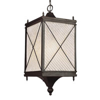 Trans Globe Lighting Estate 1 Light Outdoor Hanging Lantern in Black 5926-BK photo thumbnail