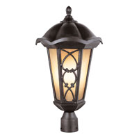 Trans Globe Lighting Villa 2 Light Post Lantern in Bronze 5945-BRZ