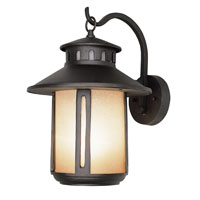 Trans Globe Lighting Craftsman 1 Light Outdoor Wall Lantern in Black 5951-BK photo thumbnail