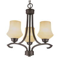 Trans Globe Lighting New Century 3 Light Chandelier in Antique Bronze 6183-ABZ