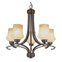 Trans Globe Lighting New Century 5 Light Chandelier in Antique Bronze 6185-ABZ