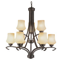 Trans Globe Dakota 9 Light Chandelier in Antique Bronze 6189-ABZ