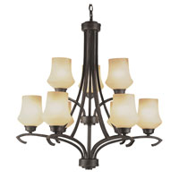Trans Globe Lighting New Century 9 Light Chandelier in Antique Bronze 6189-ABZ