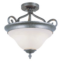 Signature 2 Light 17 inch Pewter Semi-Flush Mount Ceiling Light