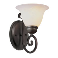 Trans Globe Lighting New Century 1 Light Wall Sconce in Rubbed Oil Bronze 6391-1-ROB