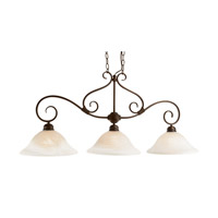 New Victorian 3 Light 45 inch Rubbed Oil Bronze Island Pendant Ceiling Light
