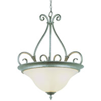 Iron Harp 3 Light 21 inch Pewter Pendant Ceiling Light