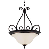 Iron Harp 3 Light 21 inch Rubbed Oil Bronze Pendant Ceiling Light