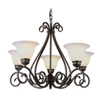 Trans Globe Lighting New Century 5 Light Chandelier in Rubbed Oil Bronze 6395-ROB