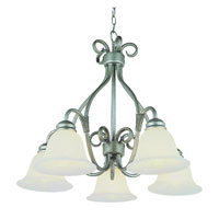 Trans Globe Lighting New Century 5 Light Chandelier in Pewter 6396-PW