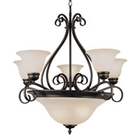 Trans Globe Lighting New Century 8 Light Chandelier in Rubbed Oil Bronze 6397-ROB