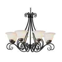 Trans Globe Lighting New Century 8 Light Chandelier in Rubbed Oil Bronze 6398-1-ROB