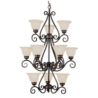 Trans Globe Lighting New Century 12 Light Chandelier in Rubbed Oil Bronze 6398-ROB