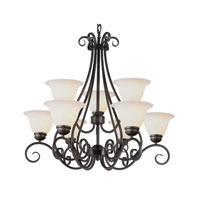 Trans Globe Lighting New Century 9 Light Chandelier in Rubbed Oil Bronze 6399-ROB