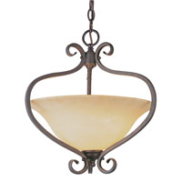 Trans Globe Double Scrolled 2 Light Pendant in Antique Bronze 6520-ABZ