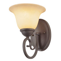 Double Scrolled 1 Light 7 inch Antique Bronze Wall Sconce Wall Light