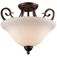 Laredo II 2 Light 15 inch Antique Bronze Semi-Flush Mount Ceiling Light