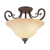 Trans Globe Double Scrolled 2 Light Semi-Flush Mount in Antique Bronze 6523-ABZ
