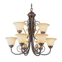 Trans Globe Lighting New Century 9 Light Chandelier in Antique Bronze 6529-ABZ